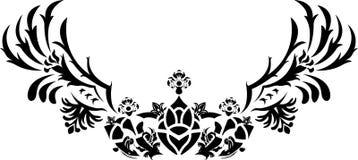 De kroon van de fantasie met vleugelsstencil Stock Foto's