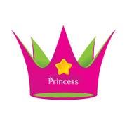 De kroon van de prinses Stock Afbeeldingen