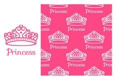 De Kroon van de prinses stock illustratie