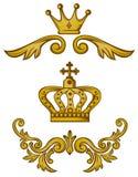 De kroon van het ornament stock illustratie