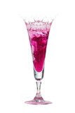 De kroon van het water in cocktailglazen Royalty-vrije Stock Fotografie
