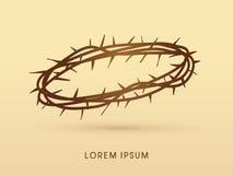 De kroon van Jesus van doornen royalty-vrije illustratie