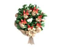 De Kroon van Kerstmis die op Witte Achtergrond wordt geïsoleerde Royalty-vrije Stock Afbeeldingen