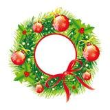 Kerstmiskroon, Kerstmisachtergrond Royalty-vrije Stock Foto