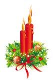 Kerstmiskroon, Kerstmisachtergrond Stock Foto