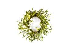 De kroon van Kerstmis met maretak Royalty-vrije Stock Afbeelding