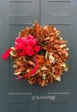 De kroon van Kerstmis op een deur royalty-vrije stock fotografie