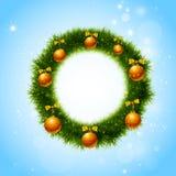 De kroon van Kerstmis Vector Kerstmisdecoratie Stock Fotografie