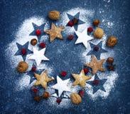 De kroon van Kerstmiskoekjes Royalty-vrije Stock Foto's