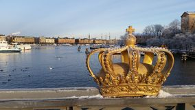 De kroon van Stockholm Stock Foto's