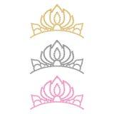 De kroon van vrouwen. Stock Afbeeldingen