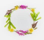 De kroon van wildflowers De hoogste mening Stock Foto's