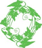 De de krooncirkel van de bladillustratie kan voor een commercieel bedrijf worden gebruikt die van het embleemoverhemd groene tech Stock Fotografie