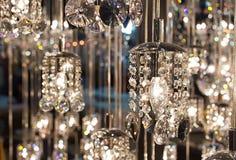 De kroonluchter van het close-upkristal Royalty-vrije Stock Afbeeldingen