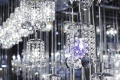 De kroonluchter van het close-upkristal Royalty-vrije Stock Foto's