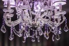 De Kroonluchter van het glamourkristal Royalty-vrije Stock Afbeeldingen
