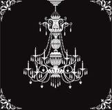 De kroonluchter van het kristal royalty-vrije illustratie