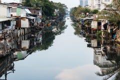 De krottenwijk van Bangkok Royalty-vrije Stock Afbeeldingen