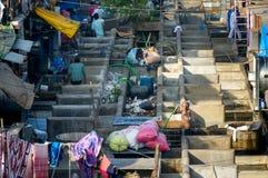 De krottenwijk van de Mumbaiwasserij royalty-vrije stock foto's