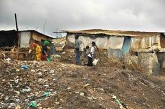 De krottenwijk van Nairobi royalty-vrije stock afbeeldingen