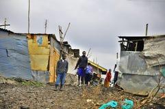 De krottenwijk van Nairobi royalty-vrije stock afbeelding