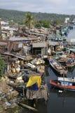 De Krottenwijken van Vietnam Fishermans Stock Foto
