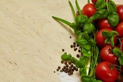 de kruiden van groententomaten stock afbeeldingen