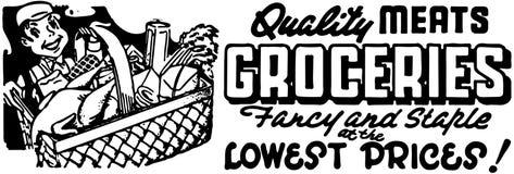 De Kruidenierswinkels van het kwaliteitsvlees stock illustratie