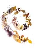 De kruidenvlakte legt spiraal stock afbeeldingen