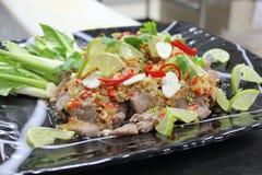 De kruidige groene salade van het rundvlees Royalty-vrije Stock Afbeeldingen