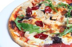 De kruidige Pizza van de Kip Royalty-vrije Stock Afbeeldingen