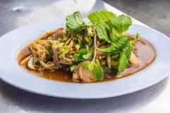 De Kruidige Salade van de bamboespruit stock foto's