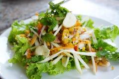 De kruidige salade van de eikrab Royalty-vrije Stock Afbeelding