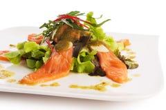 De kruidige Salade van de Zalm Stock Afbeelding