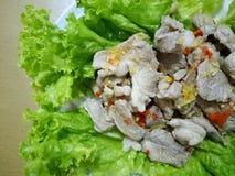 De kruidige Salade van het Varkensvlees Stock Fotografie