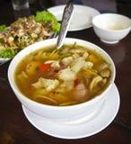 De kruidige soep van de varkensvleespees Royalty-vrije Stock Foto