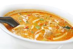 De kruidige Thaise soep van Tom yum kung Royalty-vrije Stock Fotografie