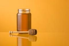 De kruik en dipper van de honing royalty-vrije stock foto