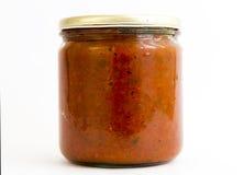 De kruik van chutney Spaanse pepers Royalty-vrije Stock Foto's