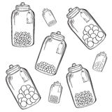 De kruik van het glassuikergoed vector illustratie