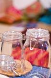 De Kruiken van het glas Stock Foto's