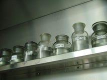 De kruiken van het laboratorium stock foto
