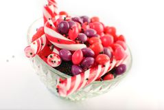 De kruikhoogtepunt van het suikergoed van snoepjes royalty-vrije stock foto