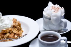 De Kruimeltaart en de Koffie van de appel Royalty-vrije Stock Fotografie