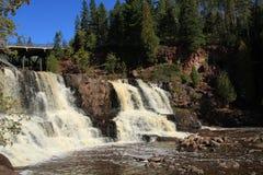 De kruisbes valt waterval Minnesota Stock Foto's