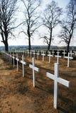 De kruisen van de begraafplaats Stock Afbeelding