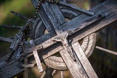 De Kruisiging van Chris bij de Heuvel van Kruisen in Siauliai, Lit royalty-vrije stock foto