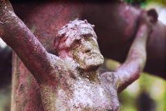 De kruisiging van Jesus-Christus Royalty-vrije Stock Foto's