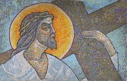 De kruisiging van Lord. Stock Fotografie