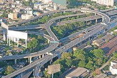 De kruising van de autosnelweg stock foto